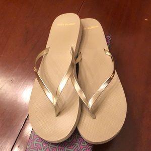 Tory Burch Flip Flop Sandals Gold Size 11